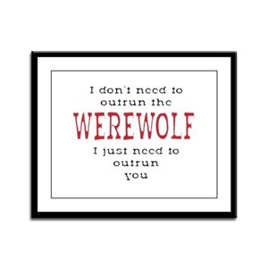 Outrun The Werewolf 3 Framed Panel Print