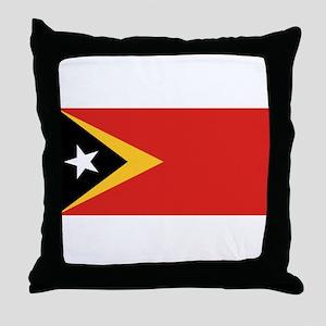 Timor Leste flag Throw Pillow