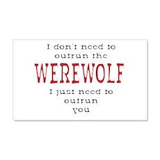Outrun The Werewolf 3 Wall Decal Sticker