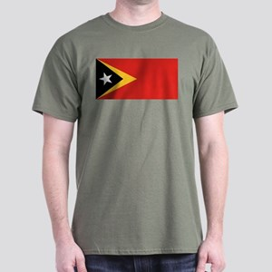 Timor Leste flag Dark T-Shirt