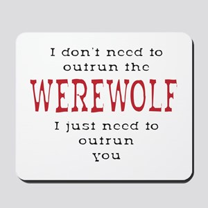 Outrun The Werewolf 3 Mousepad