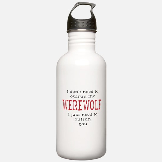 Outrun The Werewolf 3 Sports Water Bottle