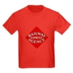 Railway Express Color Logo Kids Dark T-Shirt