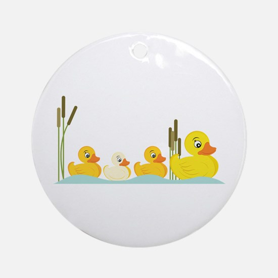 Ducky Family Ornament (Round)