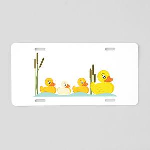 Ducky Family Aluminum License Plate