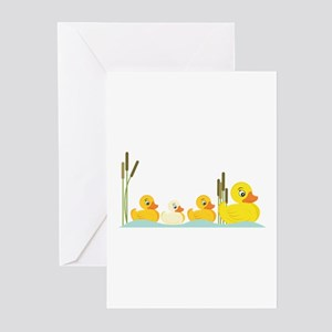 Ducky Family Greeting Cards