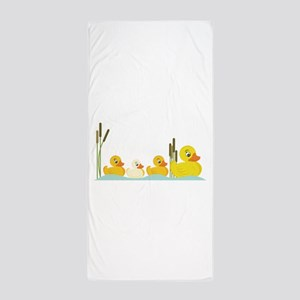 Ducky Family Beach Towel