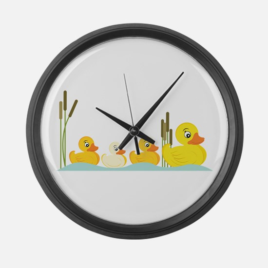Ducky Family Large Wall Clock