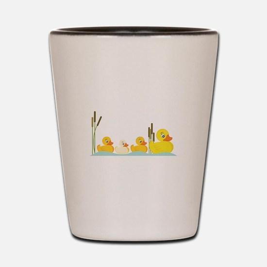 Ducky Family Shot Glass