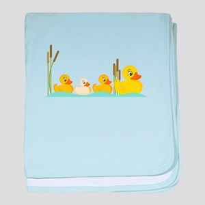Ducky Family baby blanket