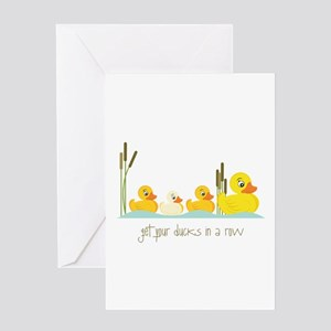 In A Row Greeting Cards