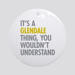 Glendale Queens NY Thing Ornament (Round)