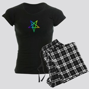 Female male transgender inverted pentagram Pajamas
