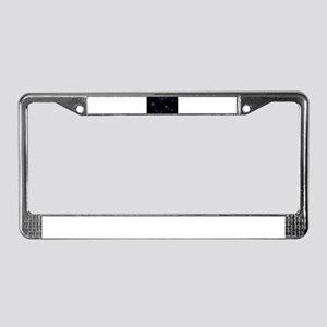 Digital Space License Plate Frame