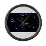 Digital Space Large Wall Clock