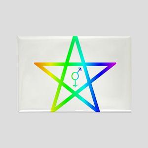Female male transgender symbol inside of upright M
