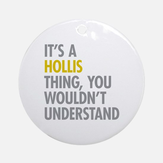 Hollis Queens NY Thing Ornament (Round)
