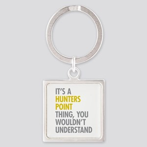 Hunters Point Queens NY Thing Square Keychain