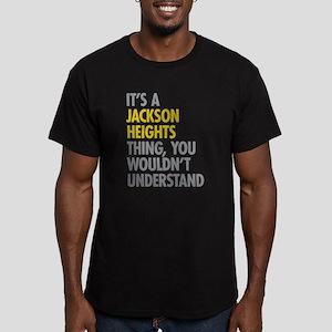 Jackson Heights Queens Men's Fitted T-Shirt (dark)