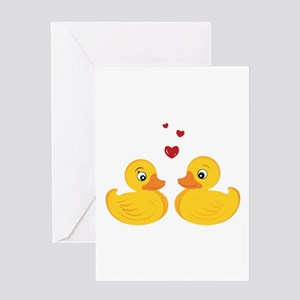 Love Ducks Greeting Cards