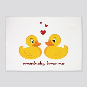 Someducky Loves Me 5'x7'Area Rug