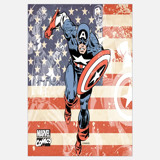 Patriotic Captain America Wall Art
