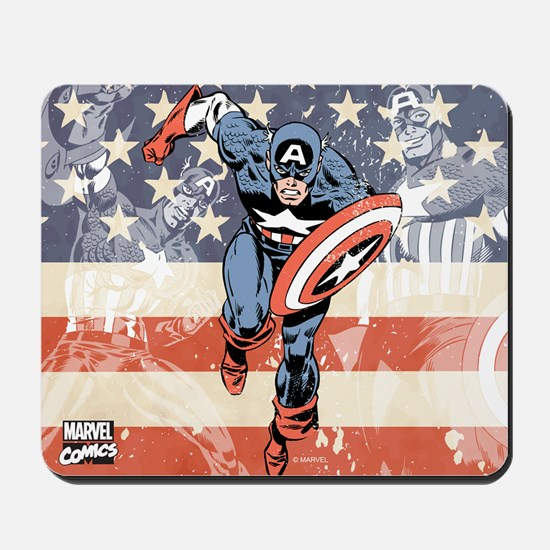 Patriotic Captain America Mousepad