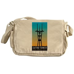 Sutro Tower logo Messenger Bag