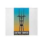 Sutro Tower logo Throw Blanket