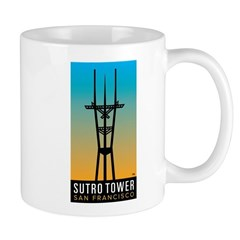 Sutro Tower logo Mugs