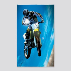 Motocross Side Trick 3'x5' Area Rug