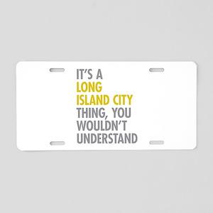 Long Island City NY Thing Aluminum License Plate