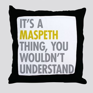 Maspeth Queens NY Thing Throw Pillow