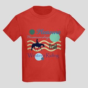 All around western in blue Kids Dark T-Shirt