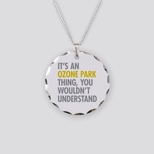 Ozone Park Queens NY Thing Necklace Circle Charm