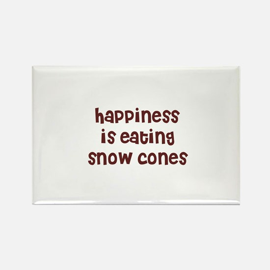 happiness is eating snow cone Rectangle Magnet