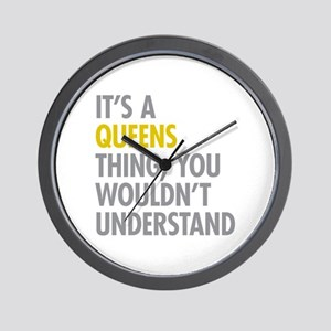 Queens NY Thing Wall Clock
