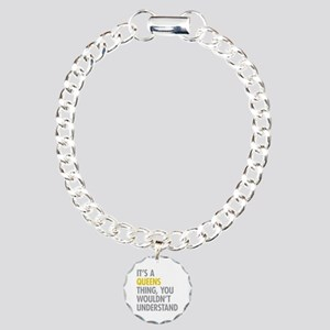 Queens NY Thing Charm Bracelet, One Charm
