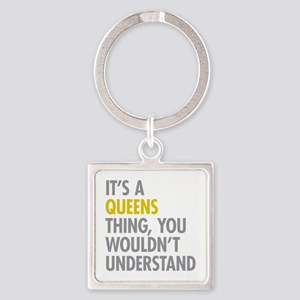 Queens NY Thing Square Keychain