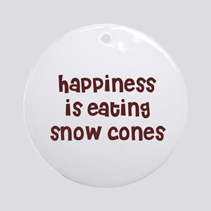 happiness is eating snow cone Ornament (Round)