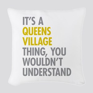 Queens Village NY Thing Woven Throw Pillow