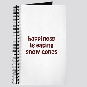 happiness is eating snow cone Journal