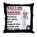 Derby Dolls Throw Pillow