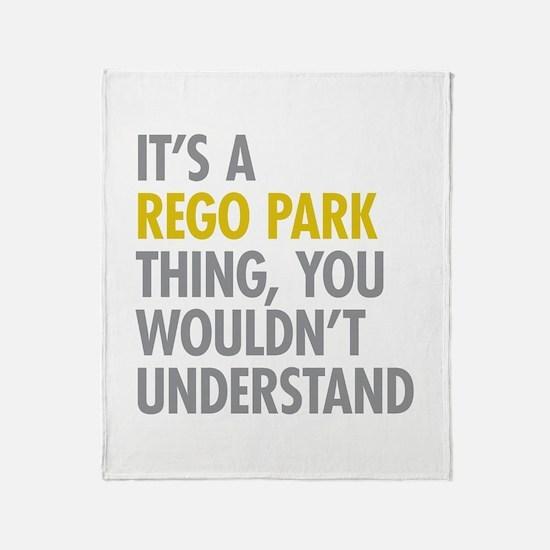 Rego Park NY Thing Throw Blanket