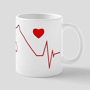 Cane Corso Heartbeat Mug