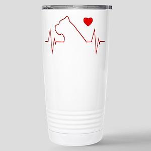 Cane Corso Heartbeat Stainless Steel Travel Mug