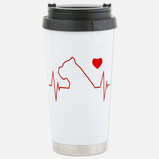 Cane Corso Heartbeat Stainless Steel Travel Mug