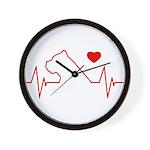 Cane Corso Heartbeat Wall Clock