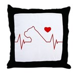 Cane Corso Heartbeat Throw Pillow