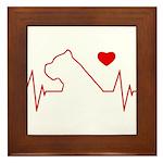 Cane Corso Heartbeat Framed Tile